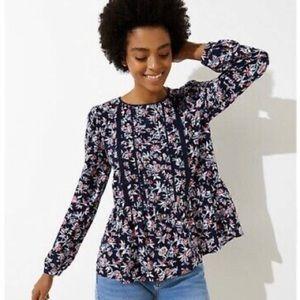 LOFT floral peplum blouse